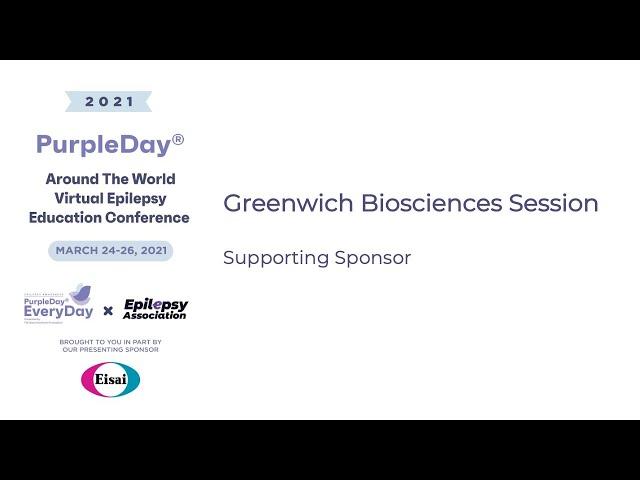 Greenwich Biosciences - Purple Day® Around The World 2021 Virtual Epilepsy Education Conference