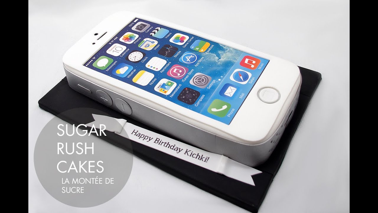 How To Make An Apple Iphone Cake For Birthday Youtube