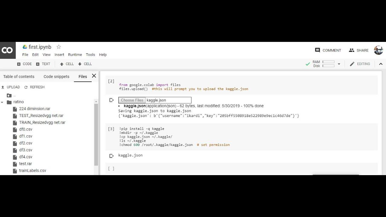 Google Colab setup and Download dataset from kaggle Bangla Tutorial