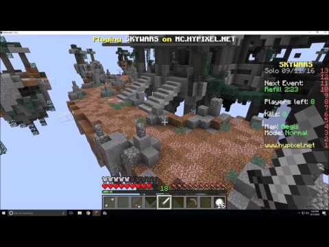 Minecraft | How to kill a Fly Hacker | SOLO Skywars