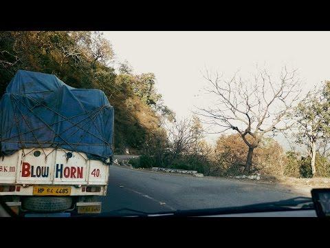 Circular Danger roads at Himachal Pradesh,India.Shimla Manali Highway Road.हिमाचल घुमावदार डेँजर रोड