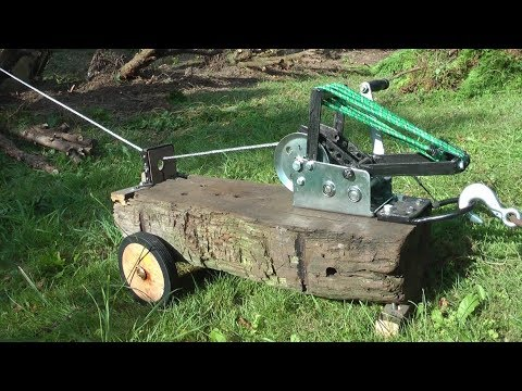 Tree Stump Removal Using a Winch