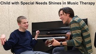 Child with Special Needs Shines in Music Therapy