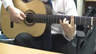 Eric Clapton cover - Rockin' chair (with gut string)