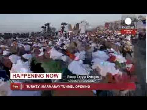 "First Trans-continental tunnel ""Marmaray"" opening ceremony in Turkey (recorded live feed)"
