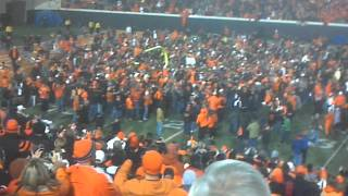 Bedlam 2011: Goal Posts Fall At Boone Pickens Stadium