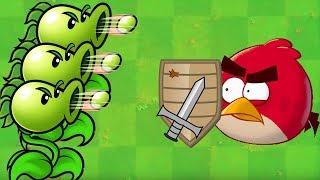 Angry Birds vs Pea - GAMEPLAY PEASHOOTER SHOOTING ANGRY BIRDS!