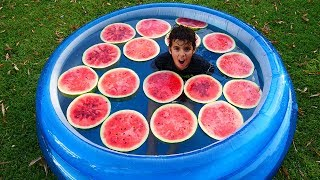 SWIMMING POOL WITH WATERMELONS