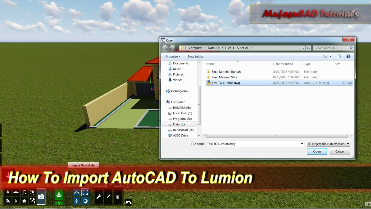 How To Import AutoCAD To Lumion