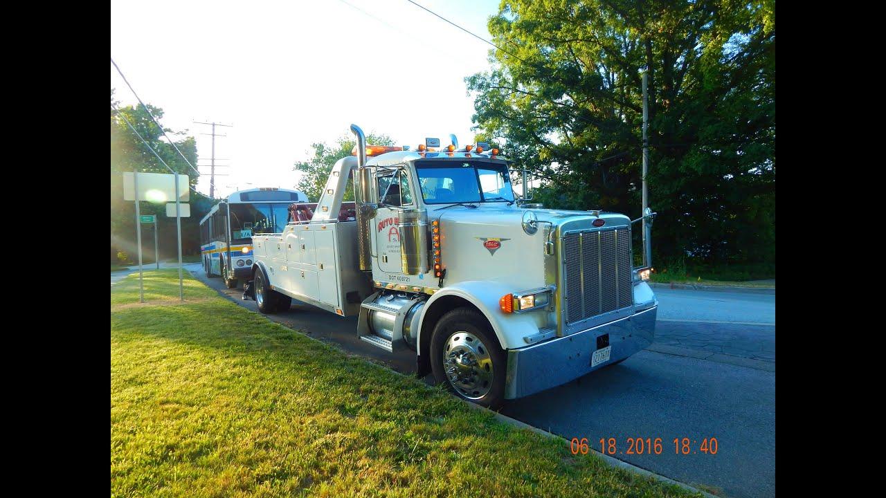 peterbilt 379 heavy duty [century 4024t] wrecker ~ w cummins n14 loud popping jake brake! Chevy S10 Blazer Wiring Diagram