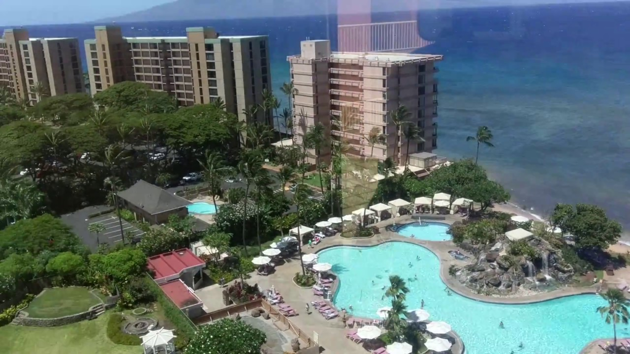 Elevator View At Kaanapali Beach Club Youtube