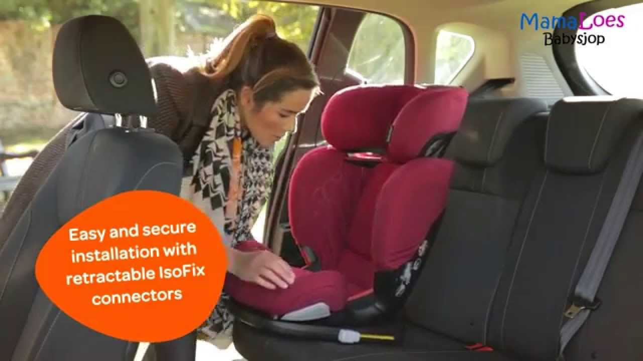 Maxi Cosi Autostoel.Maxi Cosi Rodifix Autostoel 15 36 Kg Mamaloes Babysjop Youtube
