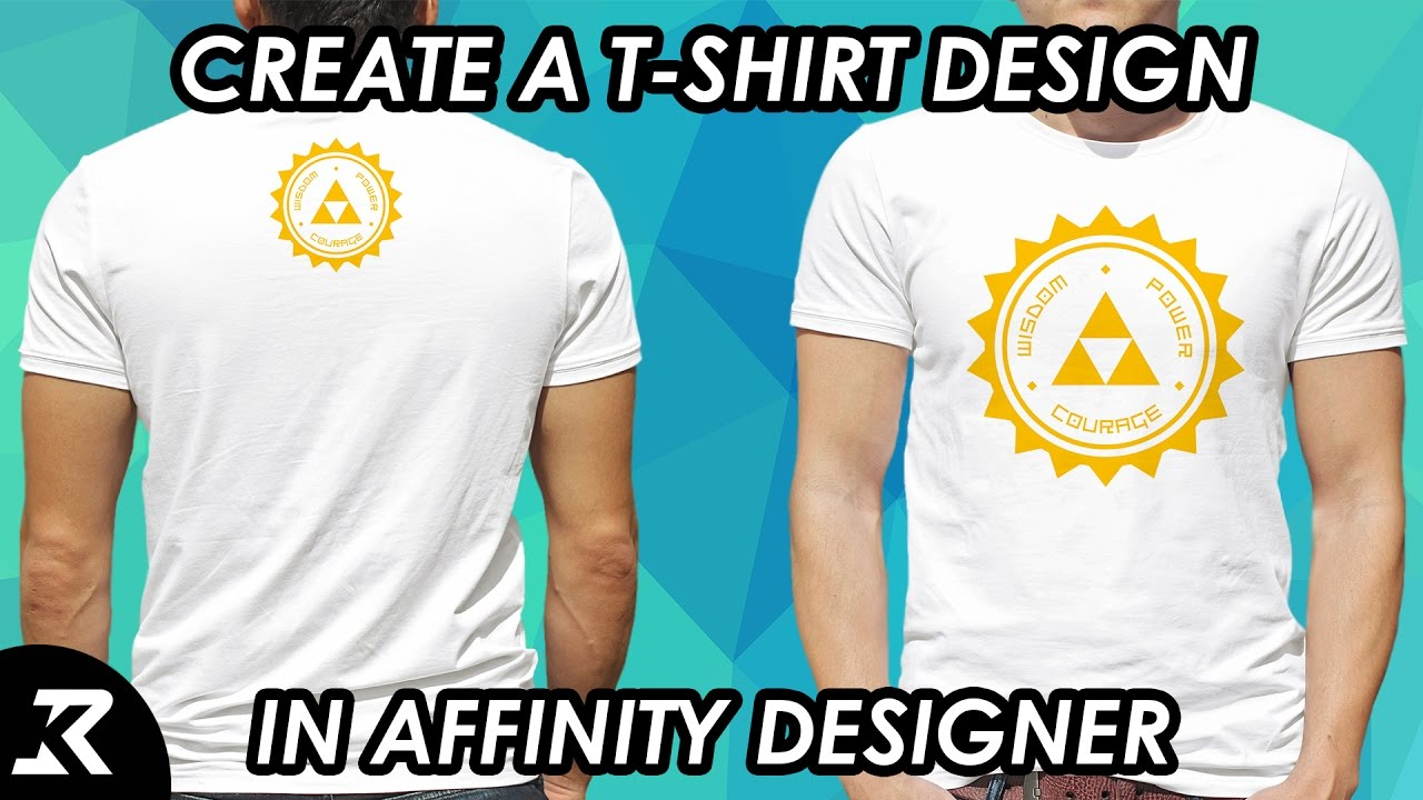 How to create a T-Shirt/Seal Design in Affinity Designer - YouTube