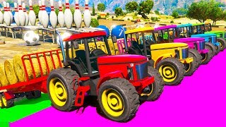 Fun Color Tractor with Animation Cartoon & Colors