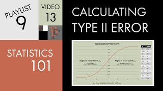 Statistics 101: Calculating Type II Error - Part 2