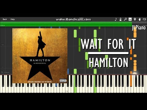 Wait For It (From Hamilton) - Leslie Odom Jr. (Synthesia Piano & Vocal Cover) *SHEET MUSIC*