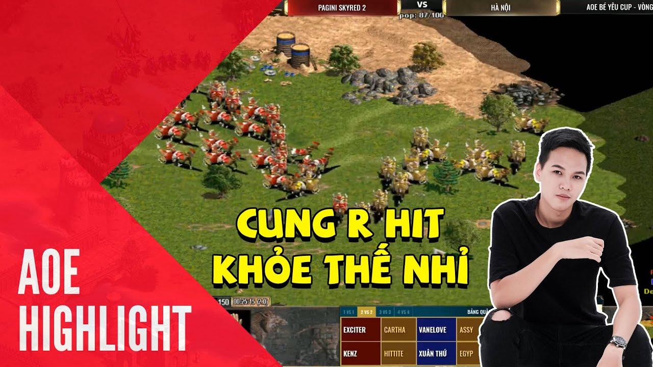 Aoe Highlight | Cung R Hit đối đấu với Cung R Assy - Egypt