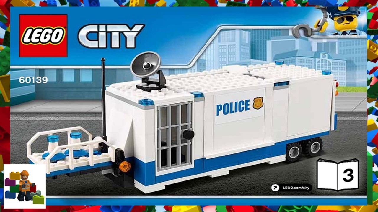 Lego Instructions City Police 60139 Mobile Command Center Book 3 Youtube
