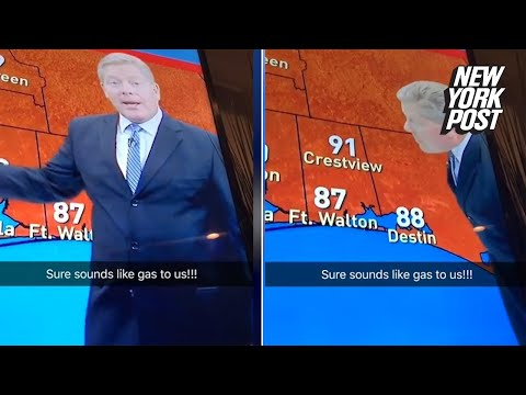 Weatherman sneaks in a fart mid-sentence | New York Post