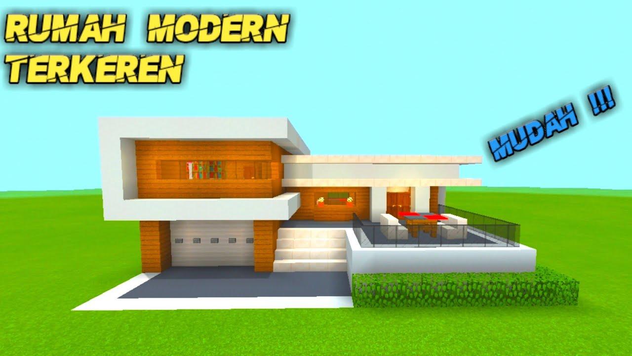 Minecraft Cara Membuat Rumah Modern Di Minecraft Youtube