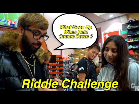 ANSWER THE RIDDLE WIN A SHOE CHALLENGE!!!!!