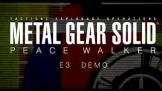 Metal Gear Solid: Peace Walker HD - PS3 Gameplay Demo