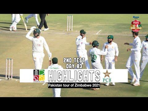 Zimbabwe vs Pakistan Highlights | 2nd Test | Day 3 | Pakistan tour of Zimbabwe 2021