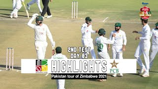 Zimbabwe vs Pakistan Highlights | 2nd Test | Day 3 | Pakistan tour of Zimbabwe 2021