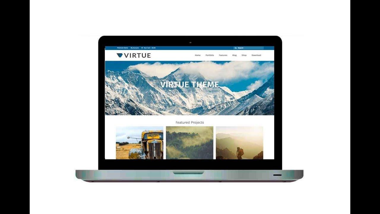 Curso de WordPress Grátis - Tema Virtue - YouTube