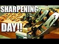 SHARPENING DAY!!! - SCARY SHARP CHISELS AND PLANES!!