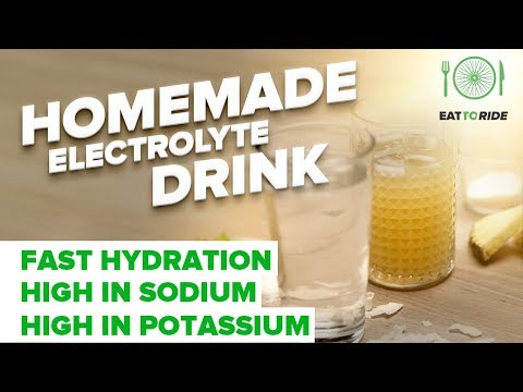 Cyclists and Hydration Homemade Electrolyte Drink