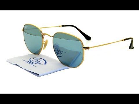 Óculos de Sol Ray Ban Hexagonal RB3548n 001 30 54 Espelhado - YouTube 302bd206a4