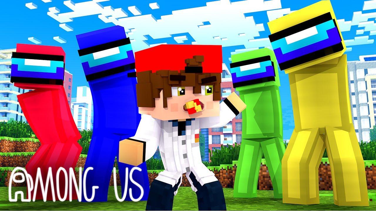 Minecraft - AMONG US ! APARECERAM NO MEU MUNDO DE MINE ! E AGORA ?