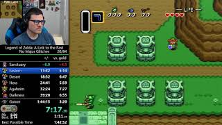 (1:39:59) Link to the Past - No Major Glitches speedrun