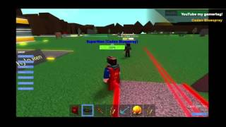 Roblox Super hero tycoon - GOING HAM WITH SUPERMAN ( my first Xbox1 screen recording )