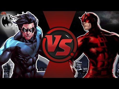 NIGHTWING vs DAREDEVIL! (DC Comics vs Marvel) Cartoon Fight Club Episode 174