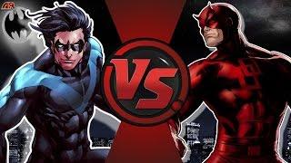 NIGHTWING vs DAREDEVIL! (Tebeos de DC vs Marvel) Cartoon Club de la Lucha Episodio 174