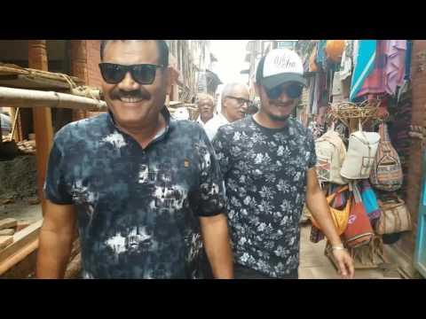 Bollywood actor Mushtaq khan at Bhaktapur Durbarsquare with Tika Pahari Sunil Thapa Gaurav Pahari