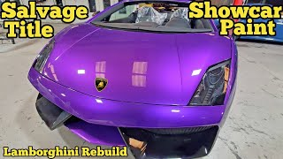 My Prior Salvage Lamborghini Gets a Custom 8 Layer Color Shifting Purple Paint Job