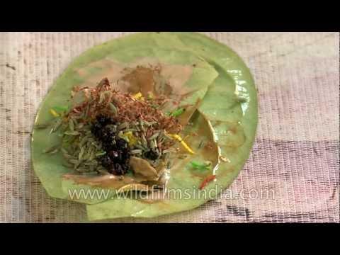 Paan shop - betel leaf paan in India