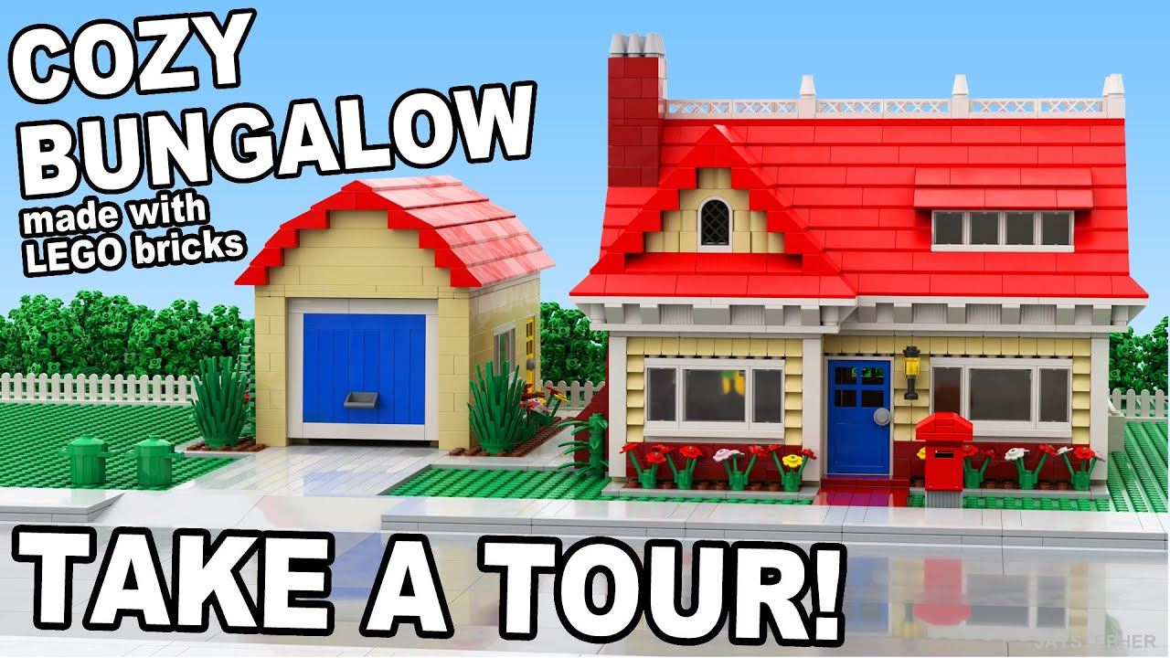 Custom build lego cozy bungalow cc youtube for Build your custom home