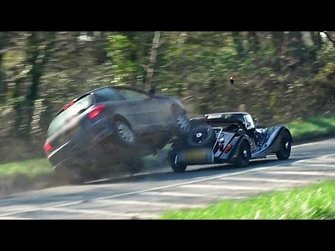 Morgan Pulls Out On Car - HUGE IMPACT!