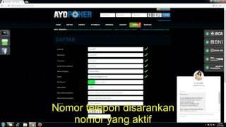 Cara Daftar Poker Online Di Ayo Poker Youtube