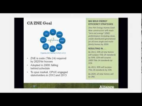 California Net Zero Homes Early Adopters: Alliance Web Meeting Archive