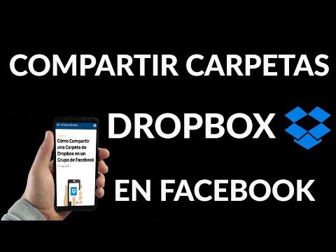 Cómo Compartir Carpetas Dropbox en un Grupo de Facebook