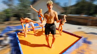 Jumping On 10,000 Pounds of Oobleck