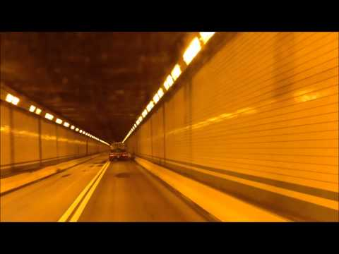 Snow Driving. PATP  Blue, Kittatinny, Tuscarora and Allegheny Mountain Tunnels. 12-10-2013.