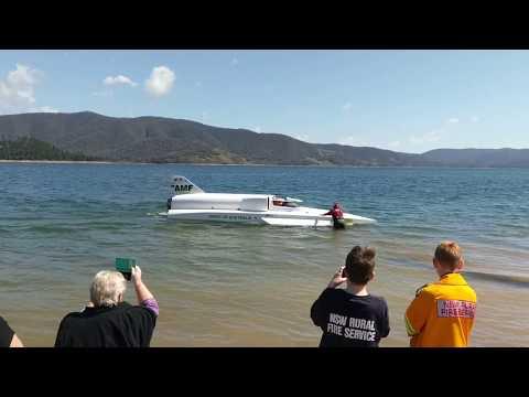David Warby - Spirit of Australia II Second Run Blowering Dam 24/09/2017 Ken Warby