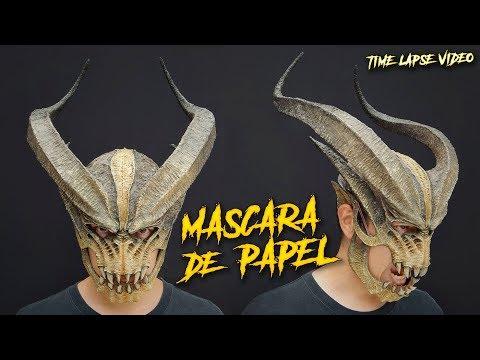 Monstruo Cornudo / Máscara Hecha Con Papel / Time Lapse Video