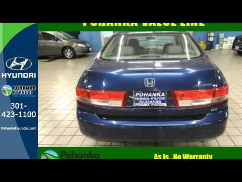 Used 2003 Honda Accord Capitol Heights MD Washington-DC, MD #FHH103205A - SOLD
